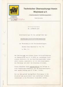 TUV-Rapport Mercedes